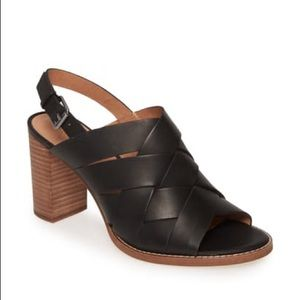 NWOB Madewell The Cindy Woven Leather Sandal Black